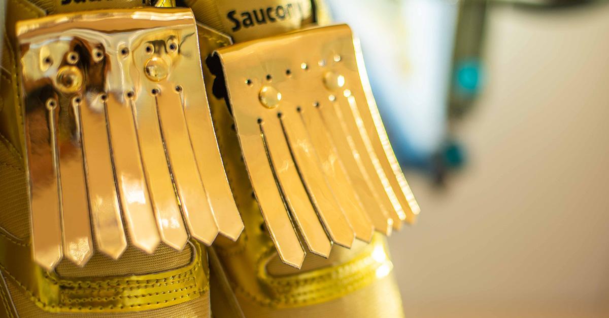 Saucony - sneaker jazz in pelle metal e mesh