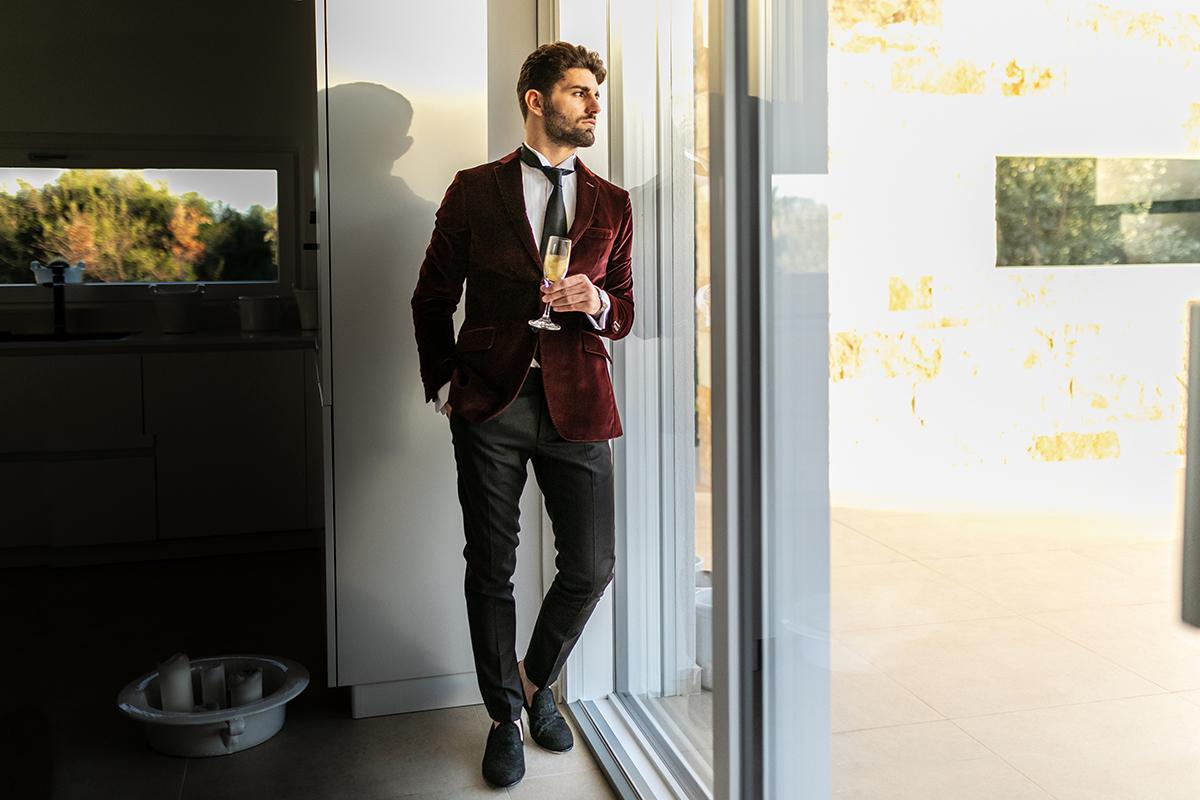 look di capodanno elegante uomo