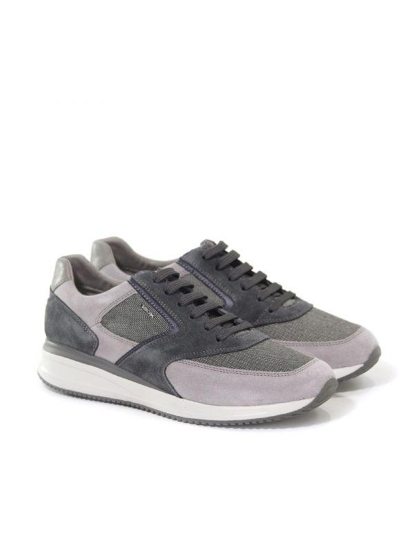 Sneaker dennie a in suede e tessuto tecnico