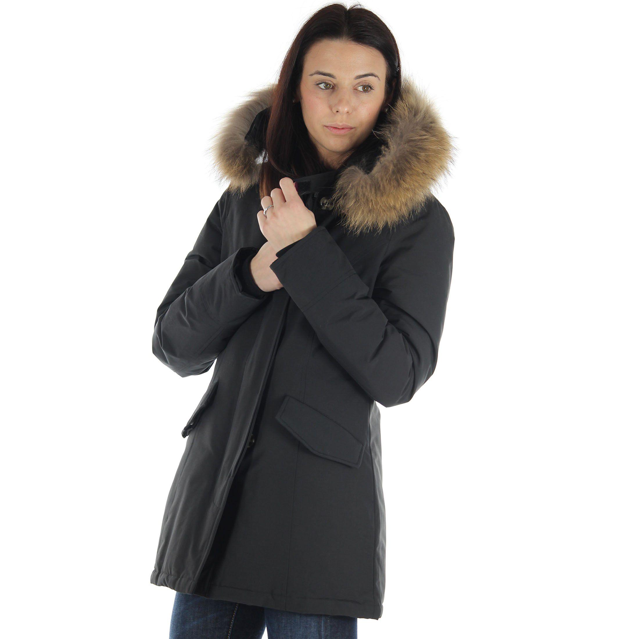 Breras parka con cappuccio in pelliccia da donna