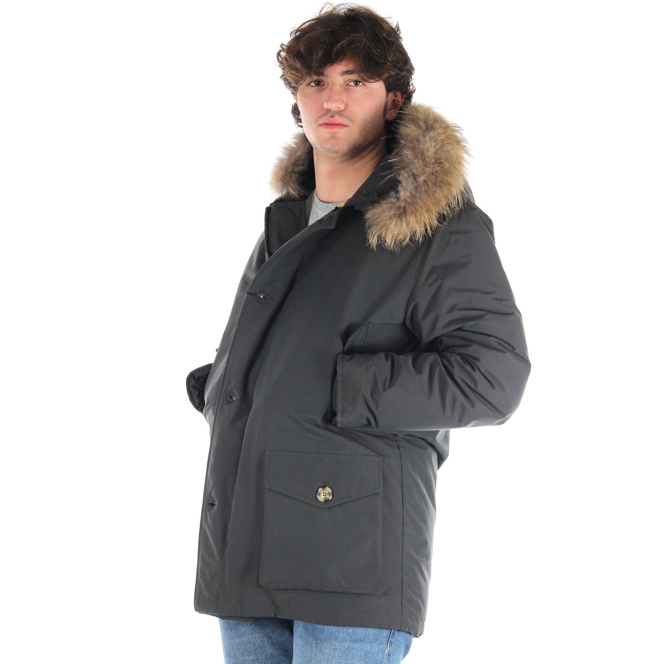 Breras parka con cappuccio in pelliccia da uomo