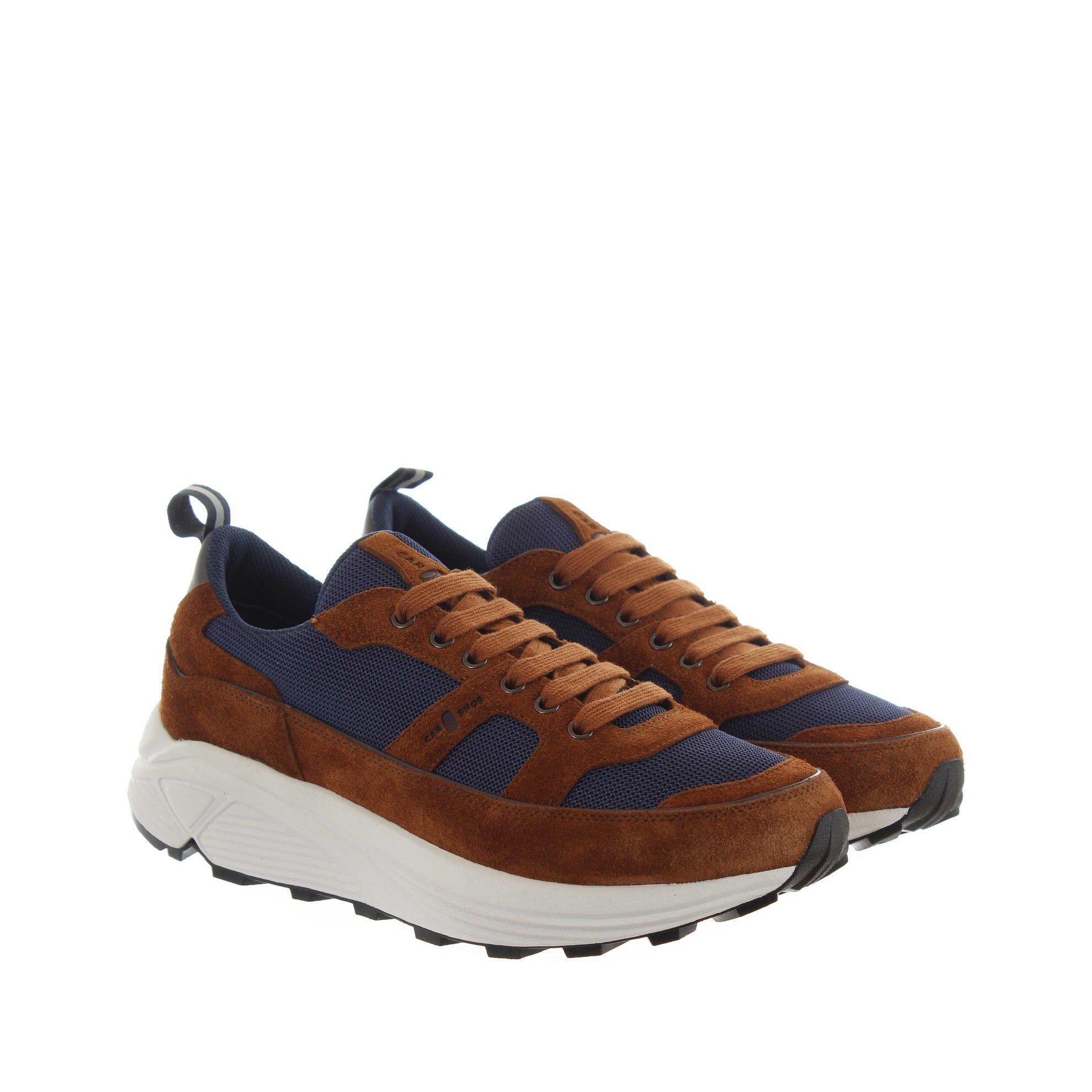 Car shoe chunky sneaker in suede e mesh da uomo