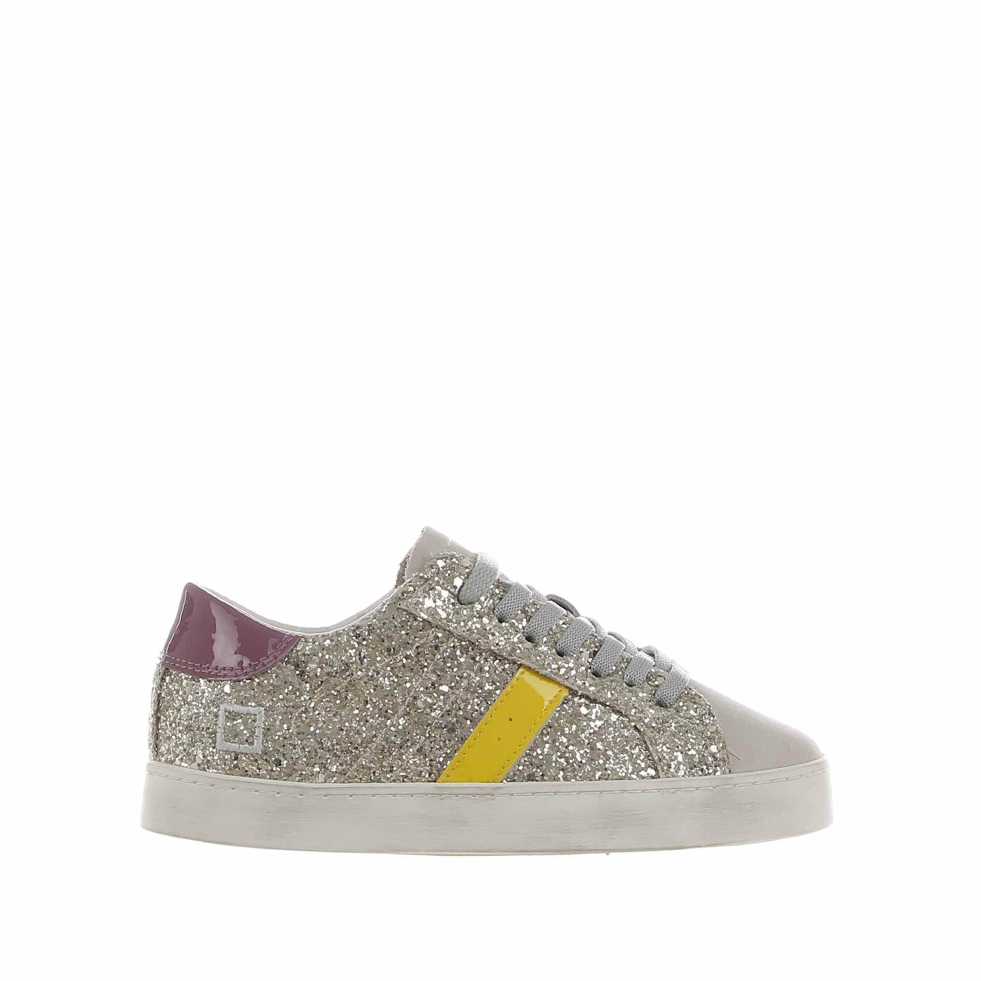 D.a.t.e. sneaker hill low 2 in glitter da bambina