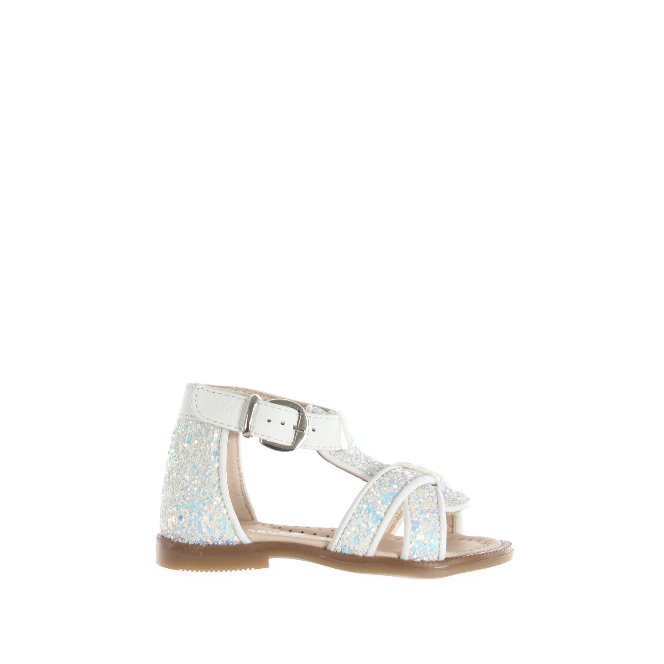 Florens sandaletto in pelle e glitter da bambina