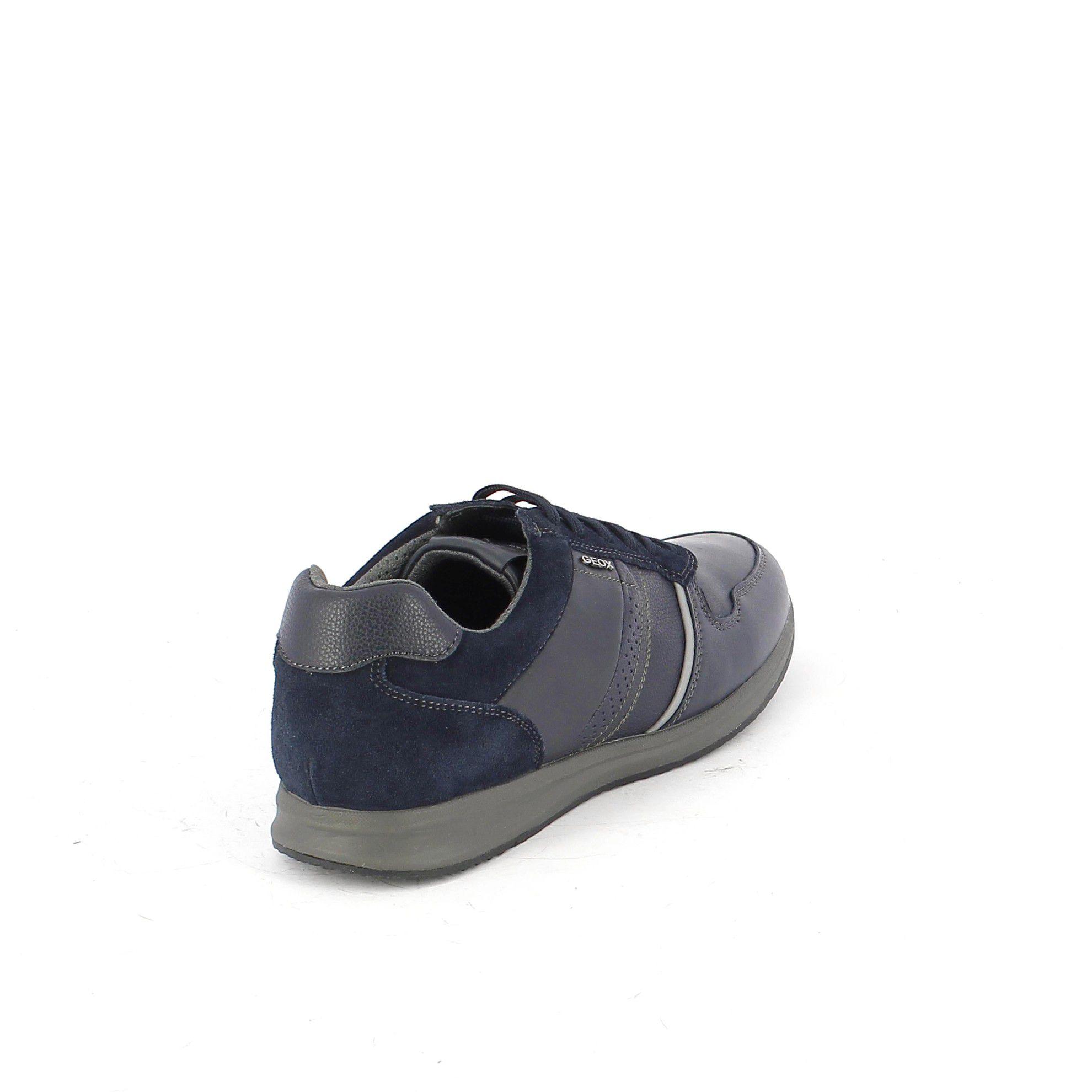Geox sneaker avery a in nappa e suede da uomo