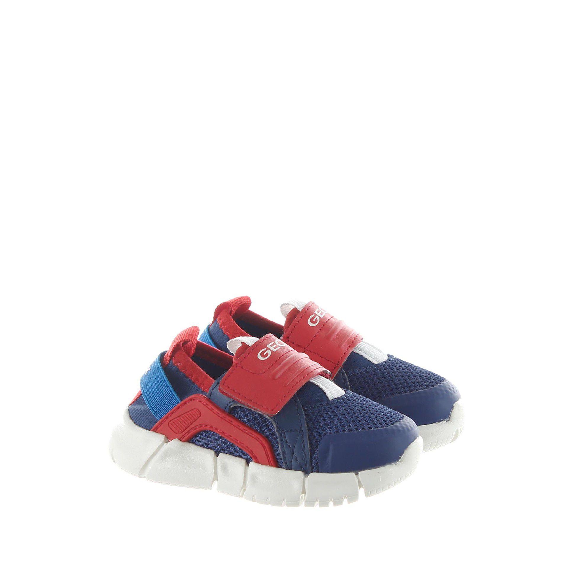Geox sneaker flexyper in mesh e nappa da bambino