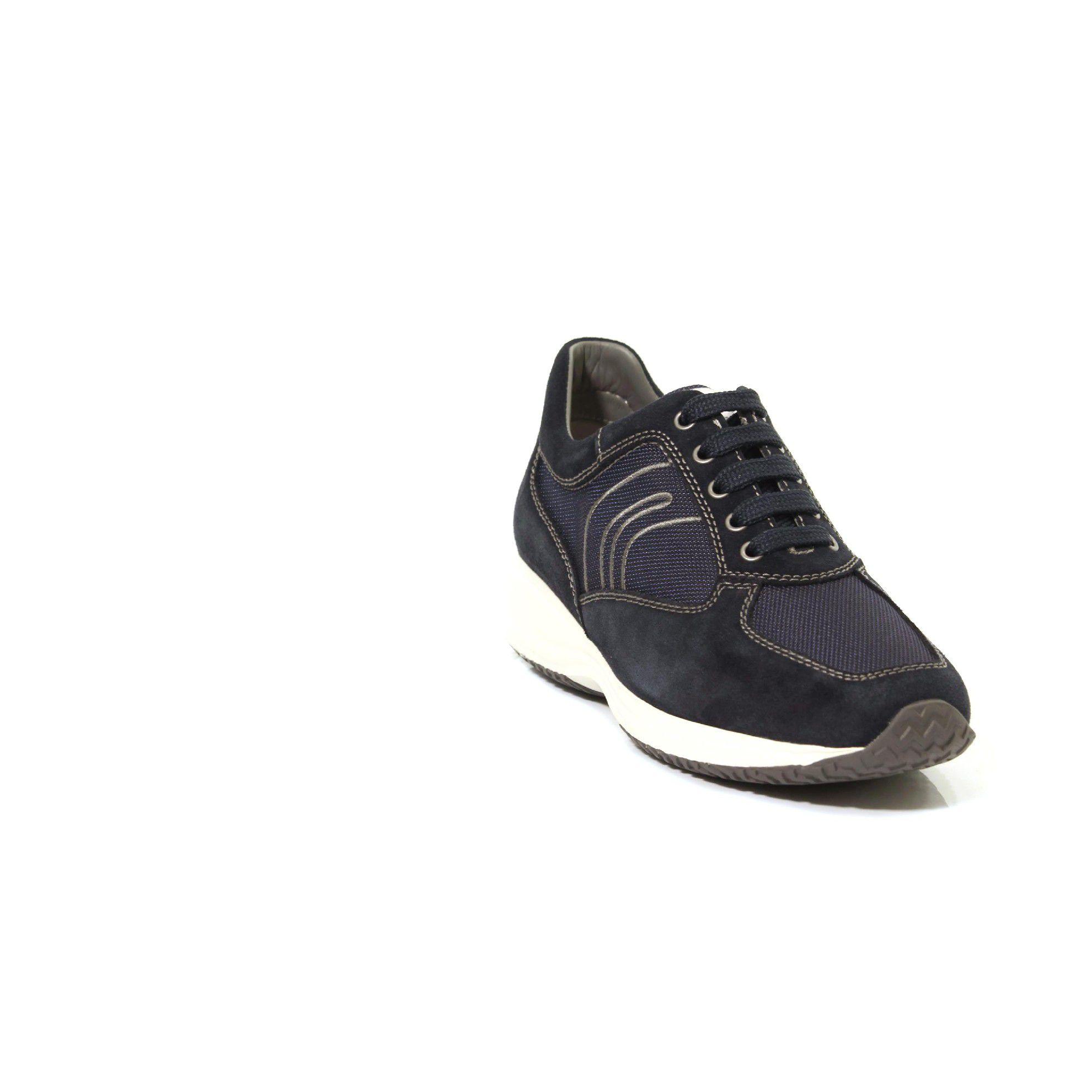 Geox sneaker happy g in suede e tessuto tecnico da uomo