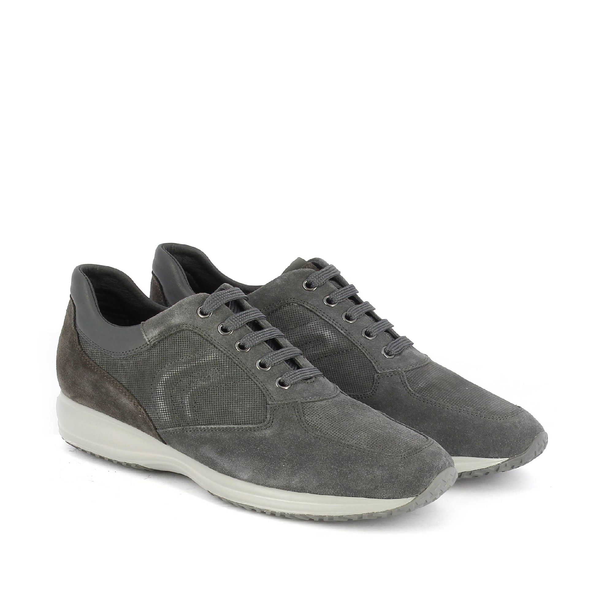 Geox sneaker happy h in suede da uomo
