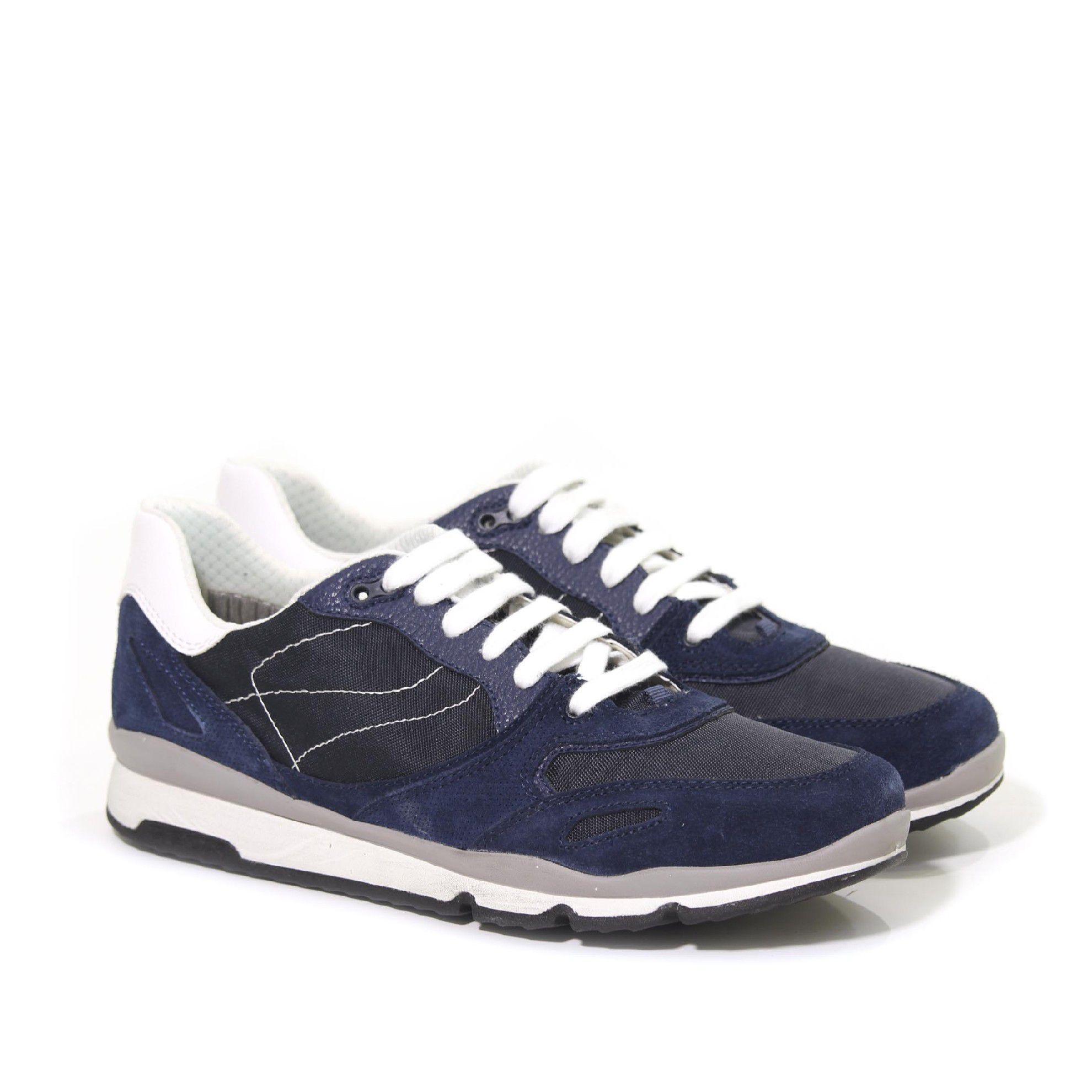 Geox sneaker sandford a in suede e tessuto tecnico da uomo