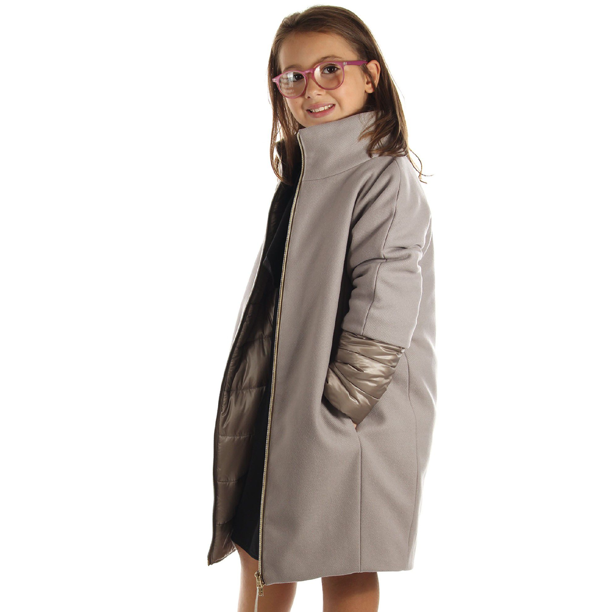 Herno cappotto in panno lana  da bambina
