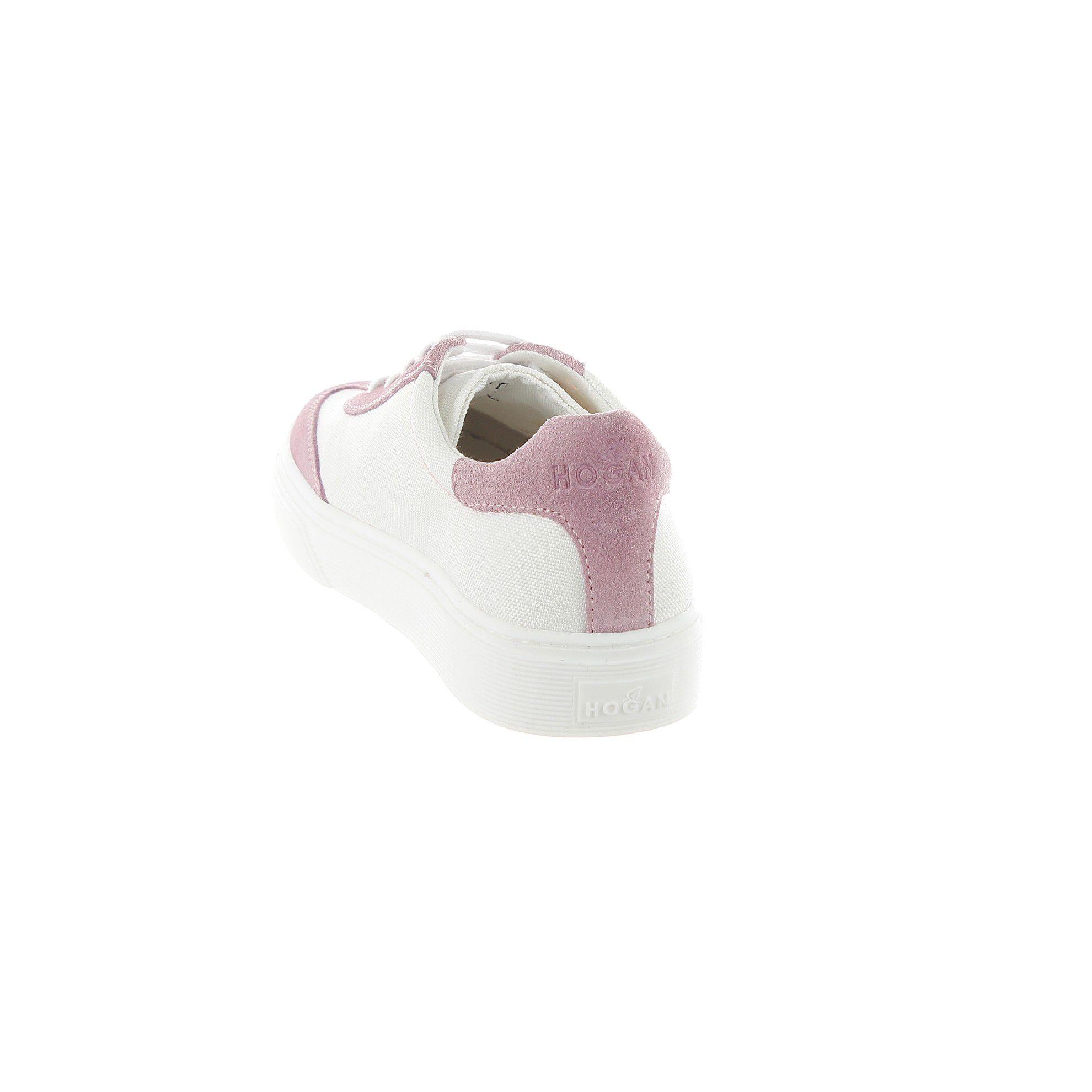 Hogan sneaker h340 in camoscio e tela da bambina