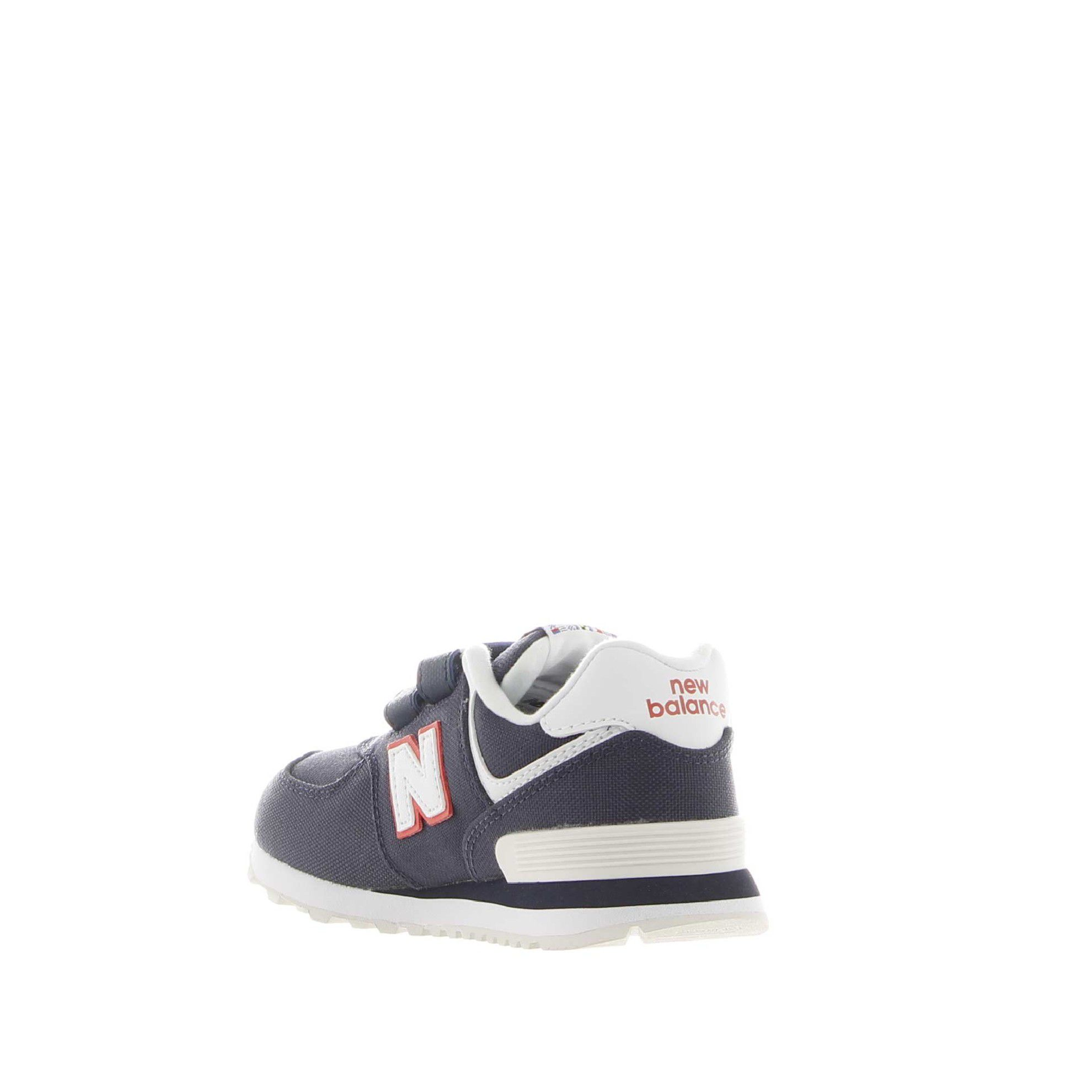 New balance sneaker 574 hook and loop in canvas da bambino