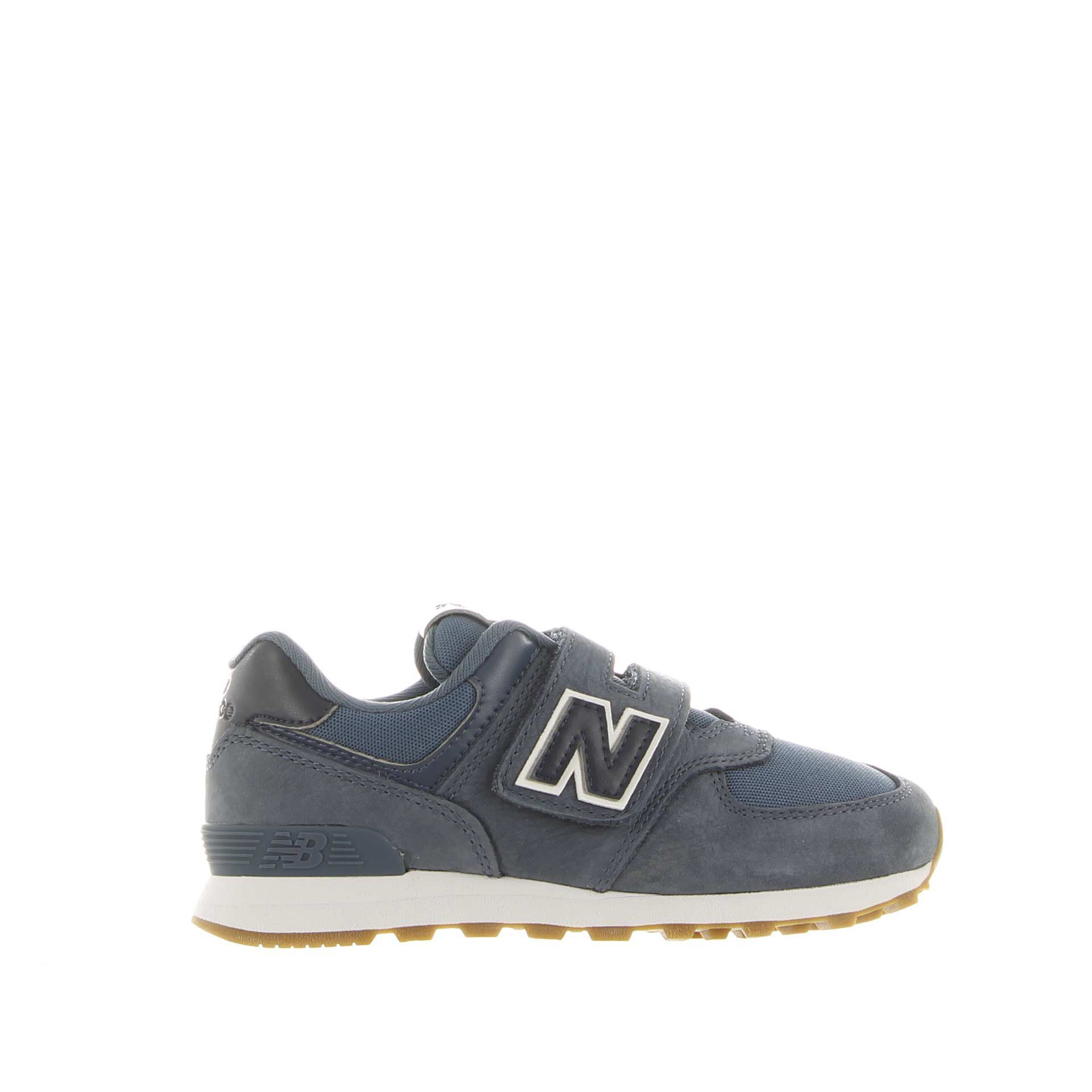 New balance sneaker 574 premium in nabuk effetto vintage da bambino