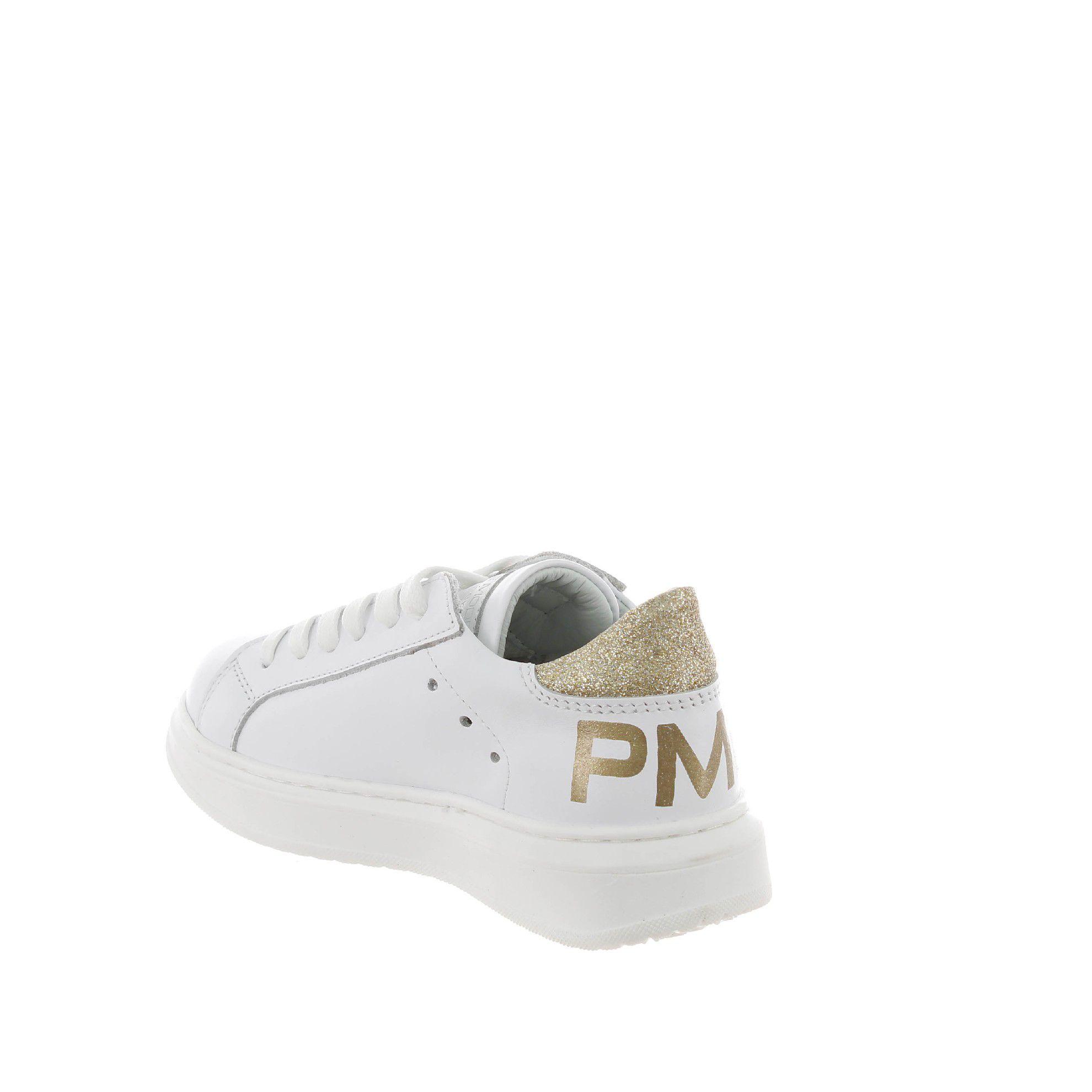 Philippe model sneaker granville in pelle e glitter da bambina