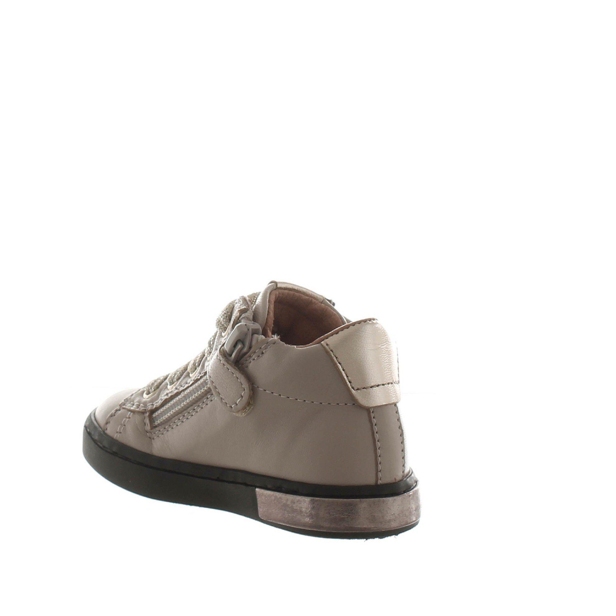 Romagnoli sneaker in pelle e glitter da bambina