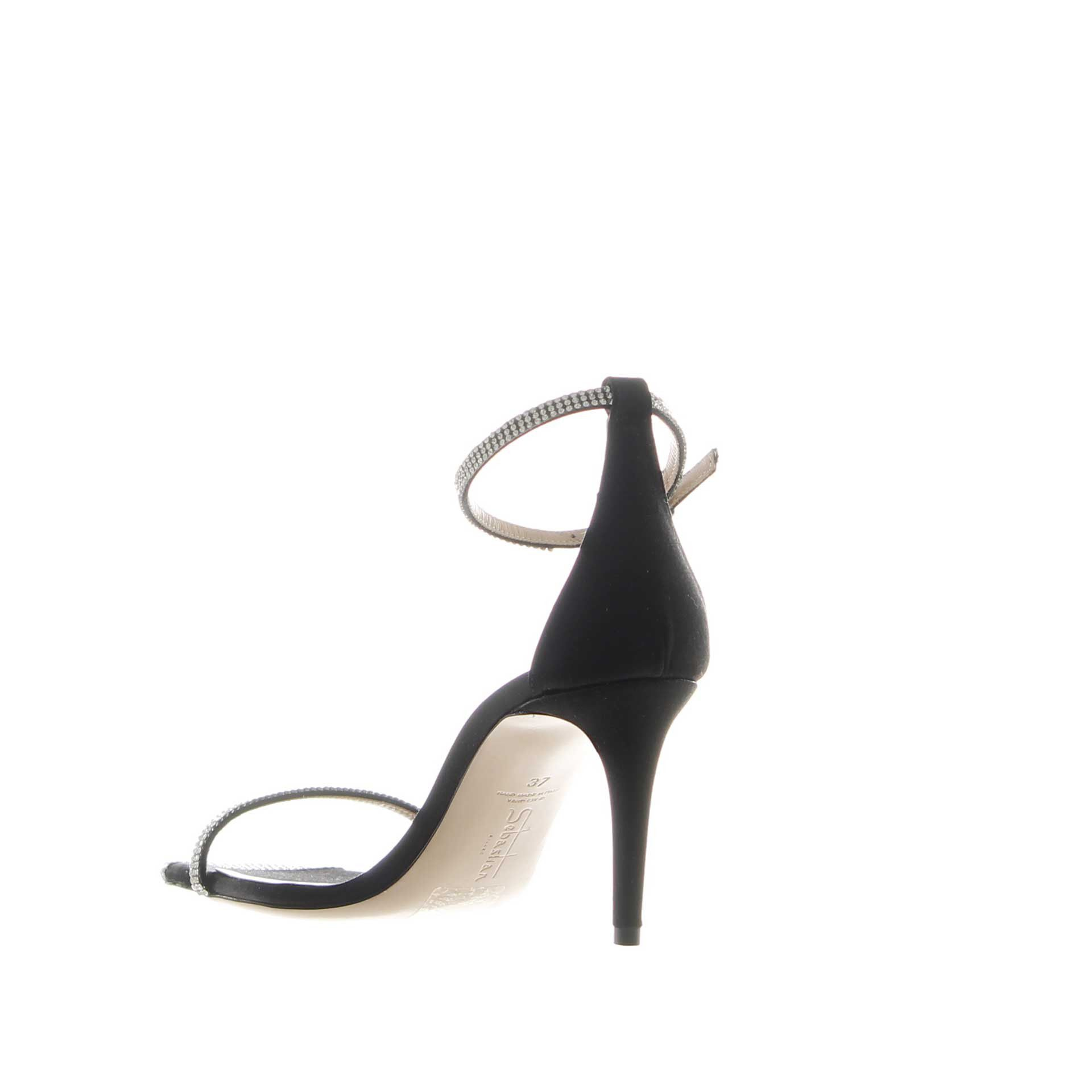 Sebastian sandalo in raso con strass da donna