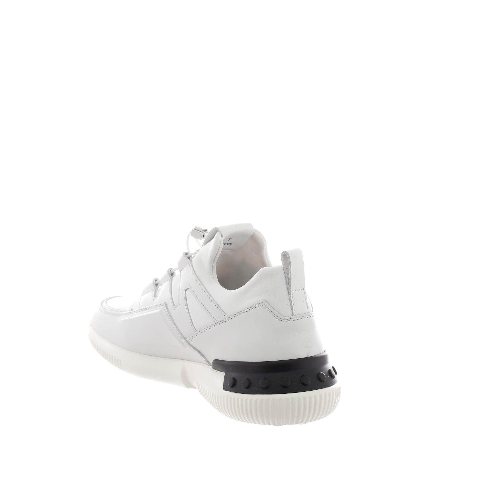 Tod's sneaker no_code_03 in pelle e tessuto scuba da uomo