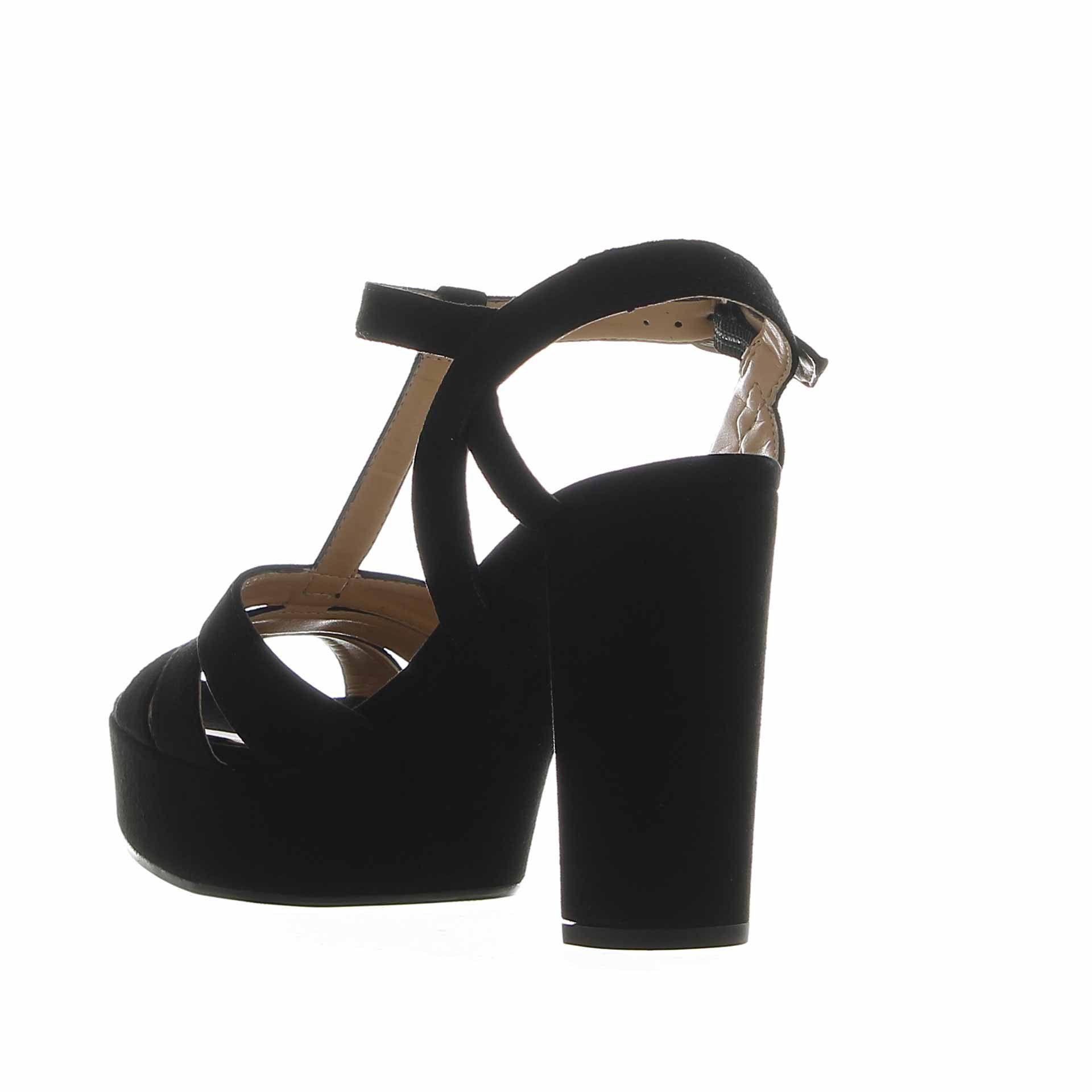 Unisa sandalo platform in camoscio da donna
