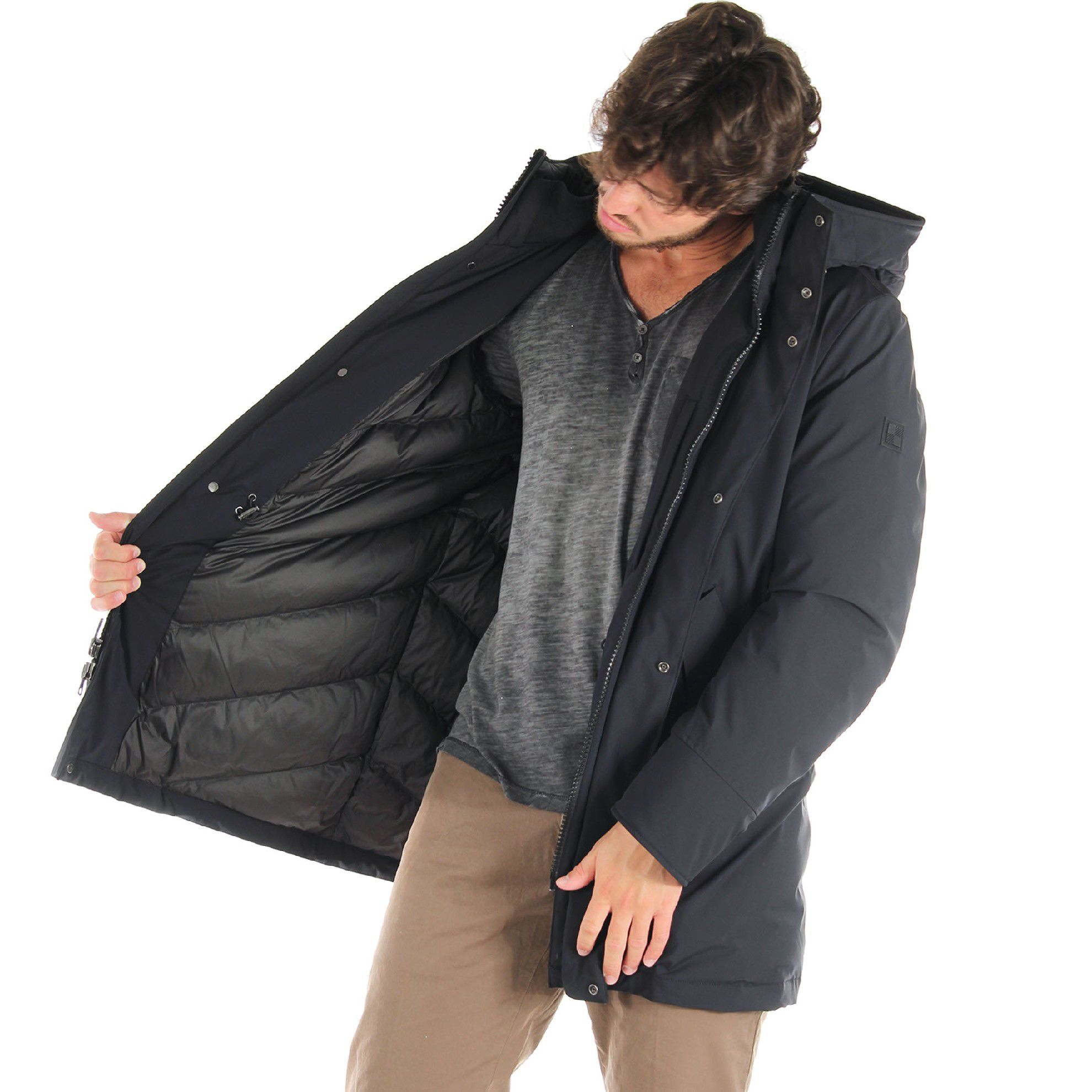 Woolrich stretch mountain parka con cappuccio da uomo