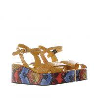 Pons quintana sandalo erika in pelle intrecciata da donna