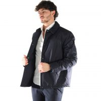 Woolrich giacca sportiva coach jacket in cotone inglese da uomo