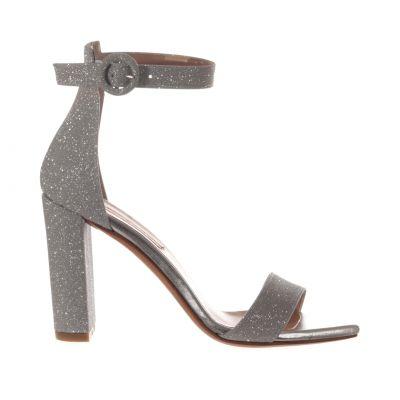 Sandalo in lurex con tallone chiuso