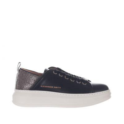 Sneaker wembley in pelle con borchie decorative
