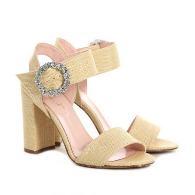 Sandalo con fibbia gioiello