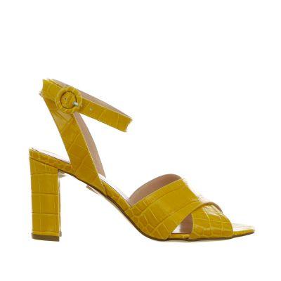 Sandalo in pelle stampa cocco