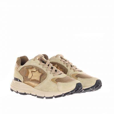 Sneaker in suede e raso