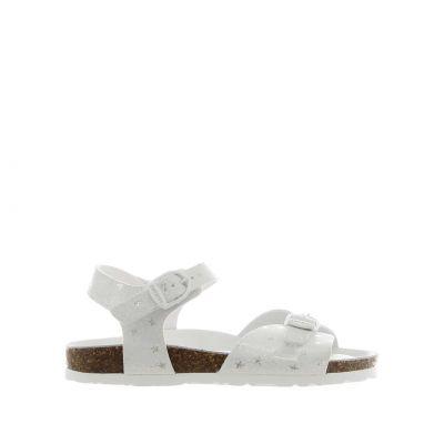 Sandalo in tessuto glitterato con stelle