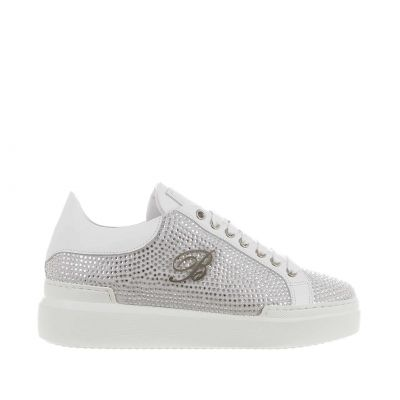 Sneaker in suede con strass