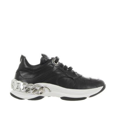 Sneaker dynamic in pelle e inserti in nylon