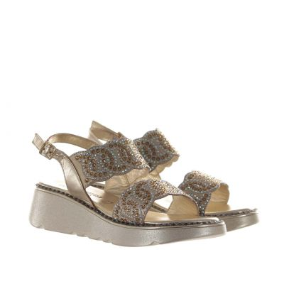Sandalo con microcristalli