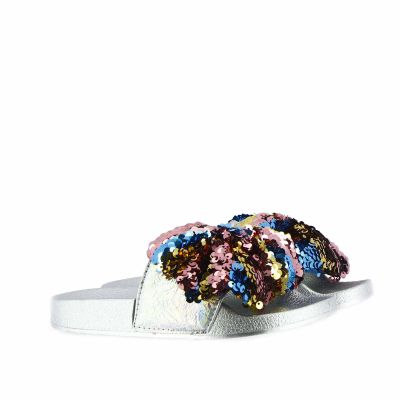 Slides con fiocco in paillettes