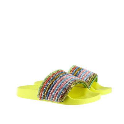 Slides con tomaia arcobaleno