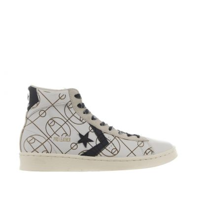 High top sneaker laser graphics in pelle