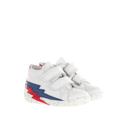Sneaker in pelle con fulmini