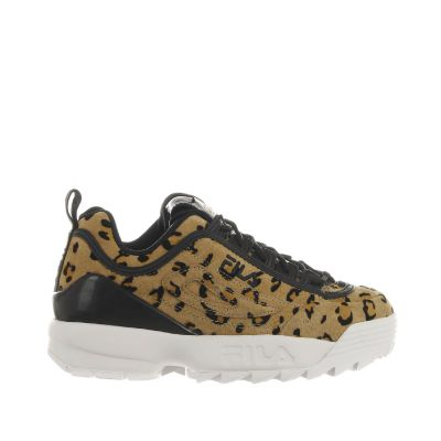 Sneaker disruptor premium a in camoscio animalier