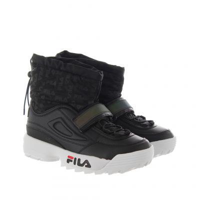 Sneaker high-top disruptor neve in pelle