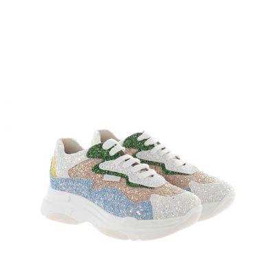Sneaker in glitter e micropaillettes