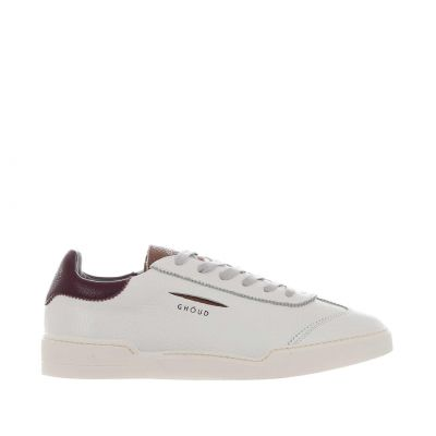 Sneaker low in pelle martellata