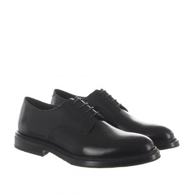 Stringata oxford in pelle polished