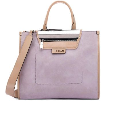 Shopping bag media in suede