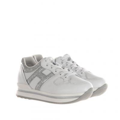 Sneaker h222 in pelle e glitter