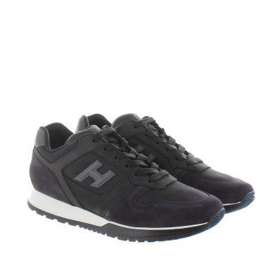 Sneaker h321 in camoscio e tessuto tecnico