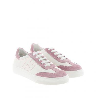 Sneaker h340 in camoscio e tela