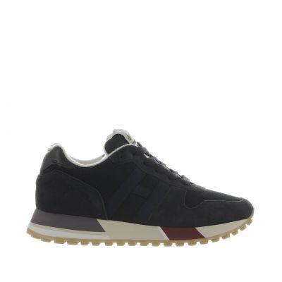 Sneaker h383 in suede e tessuto tecnico