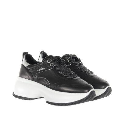 Sneaker maxi active in pelle