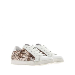 Sneaker in paillettes e pelle
